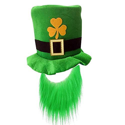 St. Patrick's Day Kostüm, irische Hüte I Happy St. Patrick's Day Flaggen I Green Strümpfe I Stirnbänder I Lucky Irish Green Kleeblatt Hängende Party Dekoration Hat (Happy Days Kostüm)