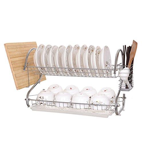Ensemble de vasque Ensemble de cuvette Étagère de vidange Étagère de cuisine En acier inoxydable Mettre des produits à double couche Incorporated (Couleur : C, taille : 58*24*38CM)