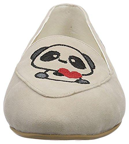 Neefs  Embroidered Shoes, Chaussures de ville à lacets pour femme Beige