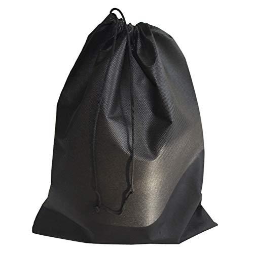 XUMIN 12 Stück 30 cm x 40 cm schwarz Vliesstoff tragbar Mehrzweck flach Kordelzug Anti-Staub Aufbewahrungstasche Reisegepäck Packtasche Organizer Tasche für Unterwäsche, Toiletry Schuh Aufbewahrung