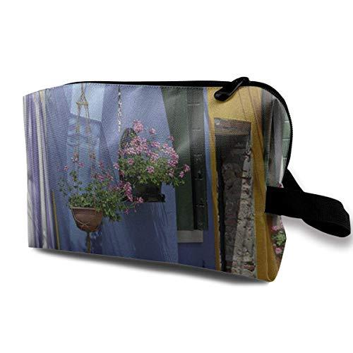 Travel Hanging Cosmetic Bags Romantic Paris Street Multi-Functional Toiletry Makeup Organizer