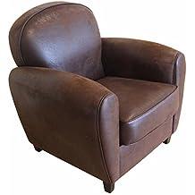 Amazon fauteuil club cuir vintage