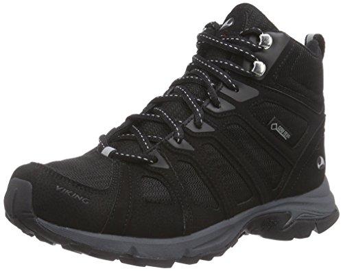 Viking Impulse Mid Gtx W, Chaussures de randonnée femme Noir - Noir (Noir/Gris 203)