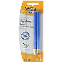 BIC Kids - Blíster de 2 lápices de grafito para niños, color azul