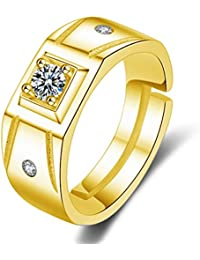 Gold Ring For Mens Design | Amazon In Yellow Gold Rings Men Jewellery