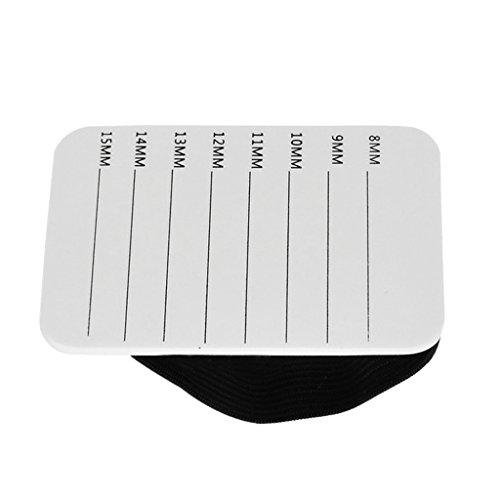 D DOLITY Support Porte à Faux Cils en Plastique avec Bandeau - Accessoire Extension de Cils - 5,5 x 8 x 0,7 cm