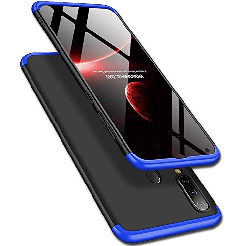 Designerz Hub® Samsung Galaxy M40 Cover Case Ull Body 3 in 1 Slim Fit Complete 3D 360 Degree Protection Hybrid Hard Bumper Back Case Cover for Samsung Galaxy M40 (Black & Blue)