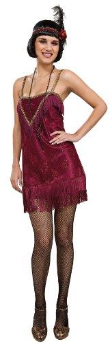 rotes Jazz Diva Charleston Kostüm für Damen, Größe:M (Jazz Diva Kostüm)