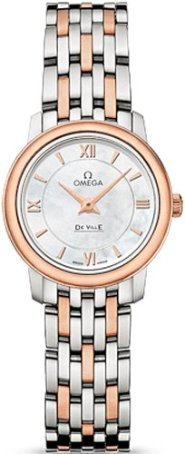 Omega DeVille Mother of Pearl Dial Rose Gold-tone Ladies Watch 42420246005002