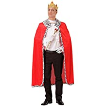 Königsmantel mit Krone Königsumhang mit Kopfschmuck König Robe Prinz Kostüm Gewand Prinzenkostüm Mantel Renaissance Märchenprinz Herrscher Umhang