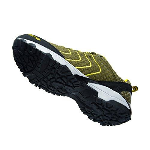 Herren Camping Wandern Outdoor Komfort Sport Trekking Walking Atmungsaktiv Footwear emansmoer Gr眉n Schuhe Mesh Ultraleicht awpadH