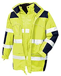 teXXor 4114 Warnschutz-Parka Toronto Wasserdichte, Winddichte Arbeitsjacke gelb S, XL