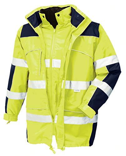 teXXor 4114 Warnschutz-Parka Toronto wasserdichte, winddichte Arbeitsjacke gelb M, S