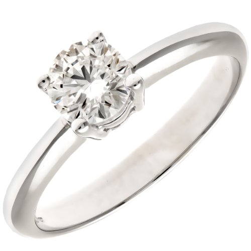 Naava Women's Platinum GIA Certified Diamond Solitaire Engagement Ring, Size J