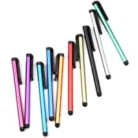 tinxi® 10 universal Stylus Stift Touch Pen Eingabestift mit Clip Design für alle Geräte mit kapazitiven Touchscreen Smartphone Handy PDA Tablet PC
