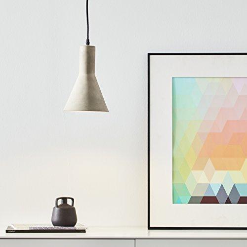 Lampe suspension 1 ampoule, 1 x E27 max. 60 W, le béton, gris béton