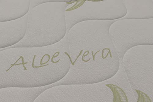 Miasuite - Materasso Matrimoniale in Memory Foam 160x190 alto 25 Cm con Dispositivo Medico ortopedico e rivestimento Aloe Vera anallergico ed antiacaro ideale per letto matrimoniale, materasso memory matrimoniale con lastra in memory foam da 6 cm e lastra in waterfoam da 18 Cm, Materasso Top