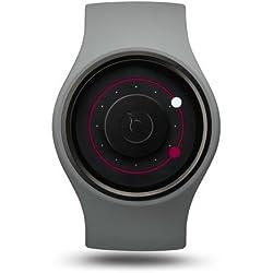 ZIIIRO Orbit Unisex Silikon / Edelstahl Watch Grey Magenta wechselbare Uhr