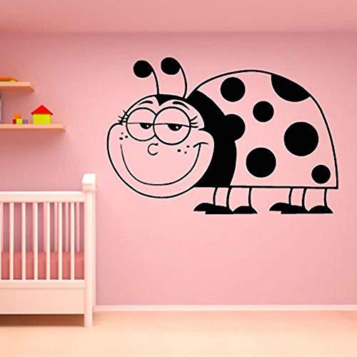 serdicht Lächelnd Marienkäfer Wandaufkleber Baby Kinderzimmer Schlafzimmer Wohnkultur Für Schlafzimmer 82X56 Cm ()