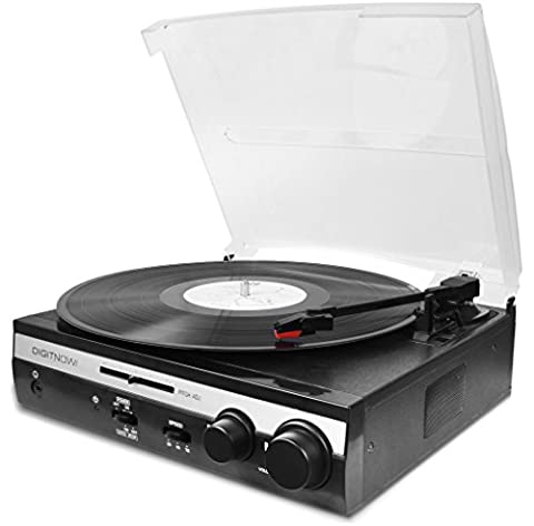 DigitNow! 3 Speed Stereo Tuning Turntable Player Variable Pitch Slider