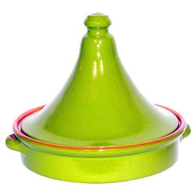 Amazing Cookware Tajine en terre cuite Vert nacré 28 cm