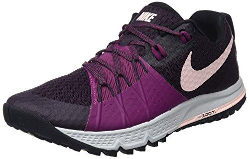 Nike Damen WMNS AIR Zoom Wildhorse 4 Laufschuhe, Violett (Port Wine/Tea Berry/Pure Platinum/Sunset Tint 601), 39 EU Platinum-berry
