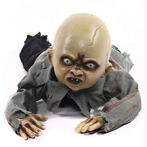 Baby Horror Dekorationen, Voice-aktivierten Glow Ghosts kriechen Baby Ghost Toys, Color 2 ()