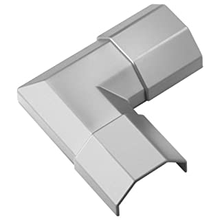 Eckverbindung für Kabelkanäle 33 mm Breite silber - 4 Stück