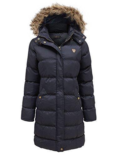 Abrigo largo acolchado con capucha, de Envy Boutique, para mujer