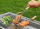 Decorcrafts Stainless Steel BBQ Barbecue Skewer Grill Kebab Needles Stick Wooden Handle Kitchen Needle Outdoor (Set Of 3)