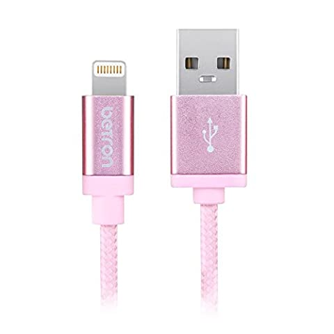 Betron Apple Certified Lightning Connector, Durable Charger Cable for iPhone,