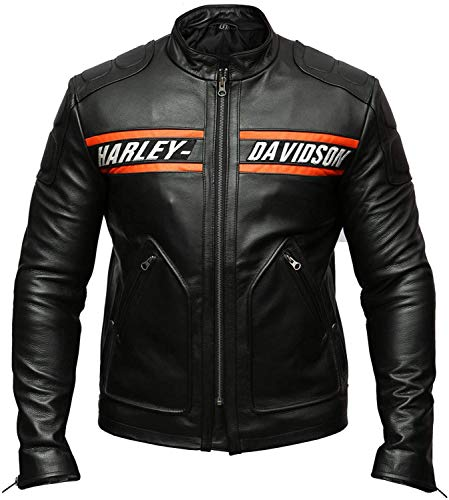 (Halloween-Kostüme WWE Goldberg Harley Davidson Motorradjacke aus Kunstleder-XXS)