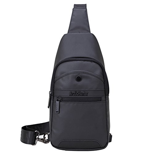 Umhängetasche Herren Crossbody Bag - Arctic Hunter Sling Bag Rucksack, Schwarz, Wasserdicht (Cross-body-schlinge)