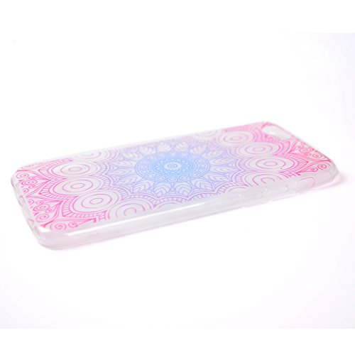 iphone SE/5/5S Handyhülle,iphone SE/5/5S Silikon Hülle,Cozy Hut 3D Handyhülle Muster Case Cover Für iphone SE/5/5S Liquid Crystal Ultra Dünn Crystal Clear Transparent Handyhülle Soft Cover Premium Ant Datura Blumen