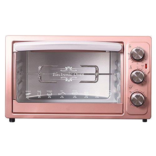12x12 Pfanne Elektrische (DULPLAY Toasterofen,Besten konvektion,Mini,30 l fassungsvermögen,Digitale essen,Grillen-rack beinhaltet,Arbeitsplatte ofen Rosa Digital Poliertem edelstahl Toast Home Küche-A 50.5x30.5cm(20x12inch))