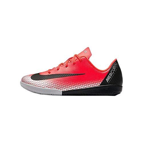 Nike Unisex-Kinder Vaporx 12 Academy Ps Cr7 IC Fußballschuhe Rot (Bright Crimson/Black-Chrome-Da 600) 31 EU