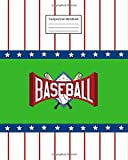 """Composition Notebook: Baseball   8"""" x 10""""   College Ruled   120 Pages"""