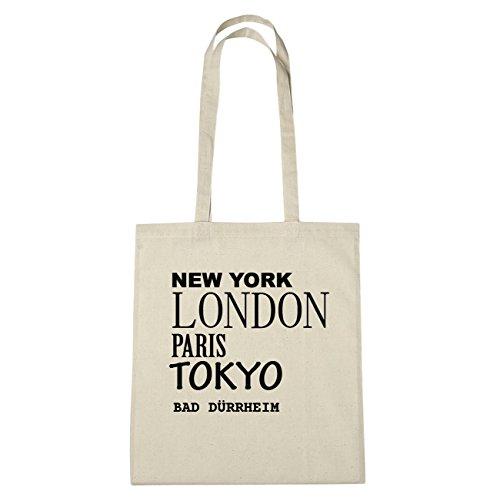 JOllify Dürr da bagno di cotone felpato b2084domestica schwarz: New York, London, Paris, Tokyo natur: New York, London, Paris, Tokyo