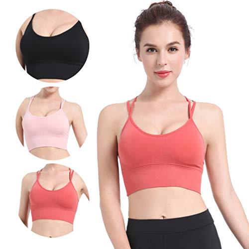 TENDYCOCO Sport-BH für Frauen Komfort Gepolstert Nahtlose High Impact Unterstützung für Yoga-Fitnessstudio Workout Fitness - Korallenrot M - 4