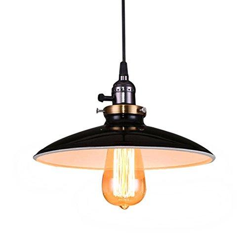 Lightsjoy Industrielampen Metall Vintage Pendelleuchte Industrial E27 Basis Edison Deckenleuchte Retro Hängeleuchte Industrie Hängelampe Loft Beleuchtung für Esszimmer Wohnzimmer Schlafzimmer Küche