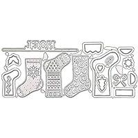 Clevoers DIY Troqueles de Corte Infantil educativa DIY Cortador de Repujado Plantilla de Corte Calcetines de