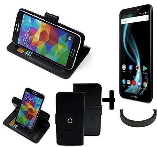K-S-Trade® Hülle Schutzhülle Case Für -Allview X4 Soul Infinity L- + Bumper Handyhülle Flipcase Smartphone Cover Handy Schutz Tasche Walletcase Schwarz (1x)