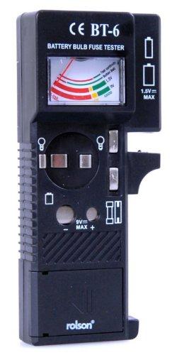 Rolson 28101 - Comprobador de circuitos eléctricos (para pilas de varios tamaños)