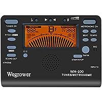 WEGROWER - Afinador y metrónomo digital para guitarras, violines, bajos, ukeleles, saxofones y clarinetes