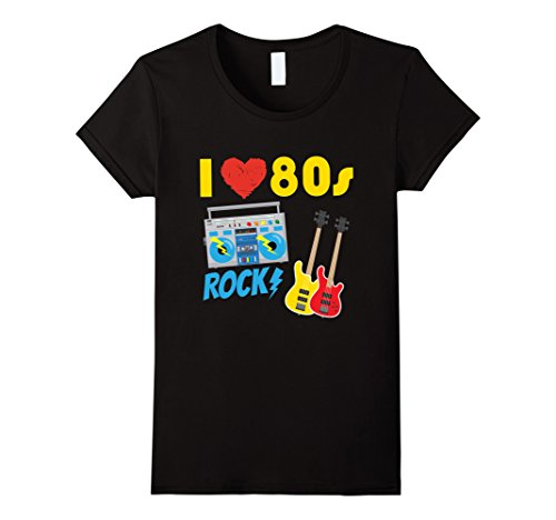 Women's I Love The 80s Rock T-shirt. S to XL