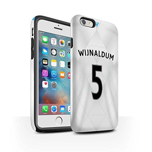 Offiziell Newcastle United FC Hülle / Glanz Harten Stoßfest Case für Apple iPhone 6S+/Plus / Pack 29pcs Muster / NUFC Trikot Away 15/16 Kollektion Wijnaldum