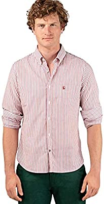 El Ganso 1 Camisa casual, Rojo (Granate 0052), mall para Hombre
