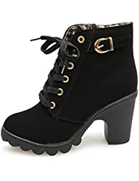 8b6b5428abe59 bottes femme filles chaussures,Femmes hiver bottes Femmes filles à la mode  haut talon lacet