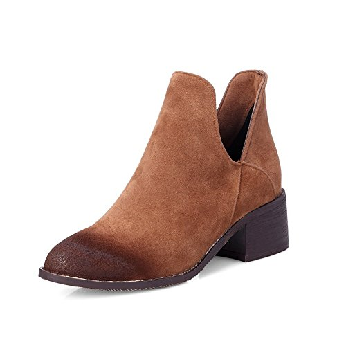 Sconosciuto 1TO9 da donna in tessuto suola in gomma moda gomma pumps-shoes Yellow