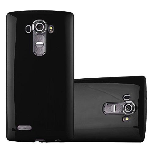 Preisvergleich Produktbild Cadorabo Hülle für LG G4 - Hülle in Jelly SCHWARZ – Handyhülle aus TPU Silikon im Jelly Design - Silikonhülle Schutzhülle Ultra Slim Soft Back Cover Case Bumper